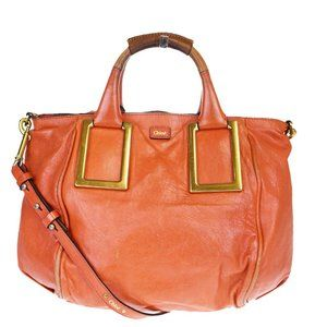 Chloé Ethel 2WAY Leather Handbag Red Color